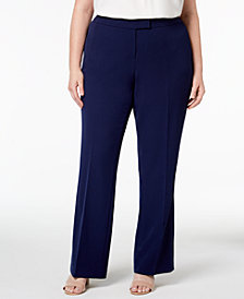 Anne Klein Plus Size Flare-Leg Pants