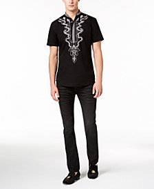 I.N.C. Dashiki Shirt & Moto Stretch Skinny Jeans, Created for Macy's