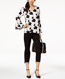 Alfani Poet-Sleeve Top & Step-Hem Pants, Created for Macy's