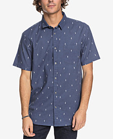Quiksilver Men's Abstract Boards Printed Pocket Shirt