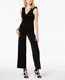 Almost Famous Juniors' Ruffled Jumpsuit