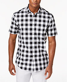 Club Room Men's Mason Check-Print Shirt, Created for Macy's