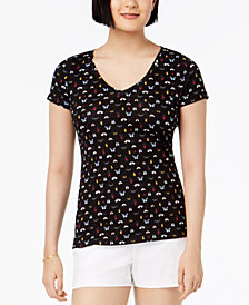 Maison Jules Printed V-Neck T-Shirt, Created for Macy's
