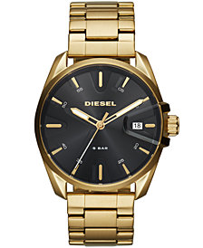 Diesel Men's MS9 Gold-Tone Stainless Steel Bracelet Watch 44mm