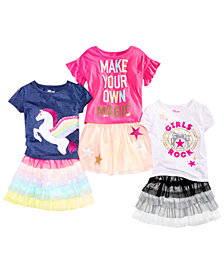 Epic Threads Little Girls Mix & Match Graphic-Print T-Shirts & Skirt Separates, Created for Macy's