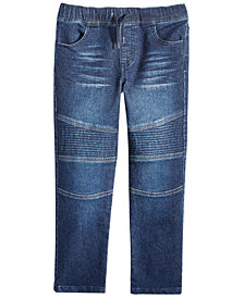 Epic Threads Little Boys Moto Knit Denim Jeans, Created for Macy's