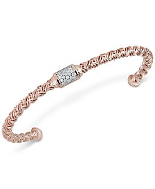 Diamond Cluster Woven Bangle Bracelet (1/5 ct. t.w.)