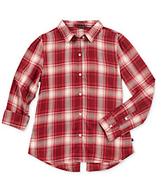Tommy Hilfiger Big Girls Plaid Shirt