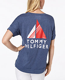 Tommy Hilfiger Sport V-Neck Logo T-Shirt, Created for Macy's