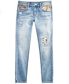 Imperial Star Big Girls Sequin-Detail Jeans