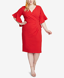 RACHEL Rachel Roy Plus Size Faux-Wrap Sheath Dress