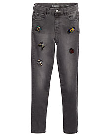 GUESS Big Girls Super Skinny Beaded Appliqué Jeans
