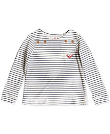 Roxy Toddler Girls Striped Long-Sleeve Cotton T-Shirt