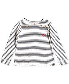 Roxy Little Girls Striped Long-Sleeve Cotton T-Shirt
