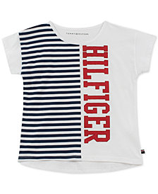 Tommy Hilfiger Big Girls Cotton Graphic-Print T-Shirt