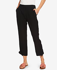 1.STATE Flat-Front Tie-Hem Ankle Pants