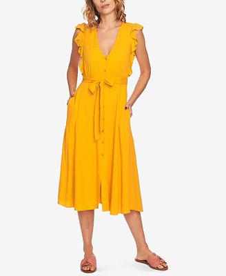 Ruffled Midi Dress by 1.State