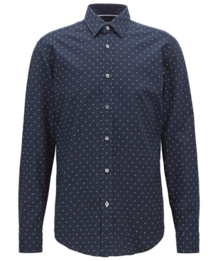 Boss Men's Regular/Classic-Fit Printed Cotton Shirt