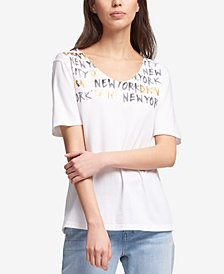 DKNY Graphic-Print T-Shirt, Created for Macy's