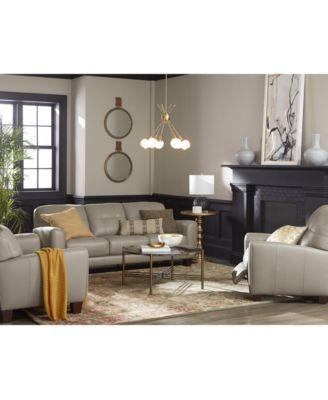 Furniture Kaleb Tufted Leather Sofa Collection, Created For Macyu0027s    Furniture   Macyu0027s