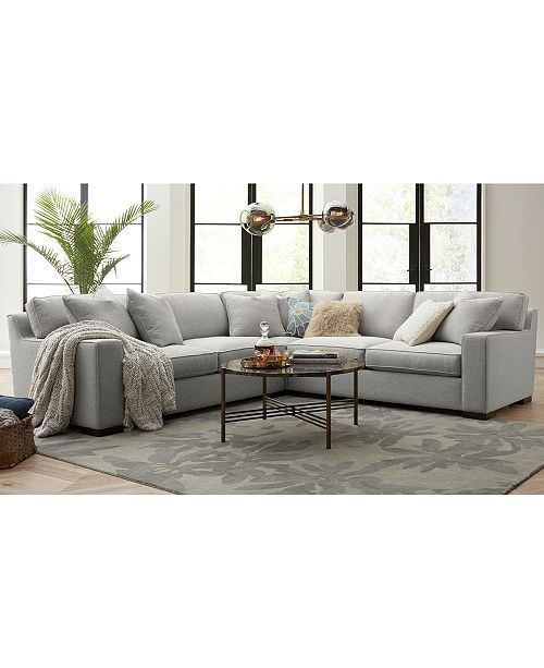 Furniture Bangor Fabric Sofa Sectional Collection Created For Macy S