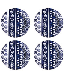 Jay Imports Old Town Blue Melamine Dinner Plates, Set of 4