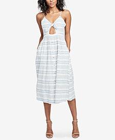 RACHEL Rachel Roy Striped Cutout Dress, Created for Macy's