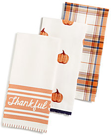 Martha Stewart Collection 3-Pc. Harvest Kitchen Towel Set, Created for Macy's