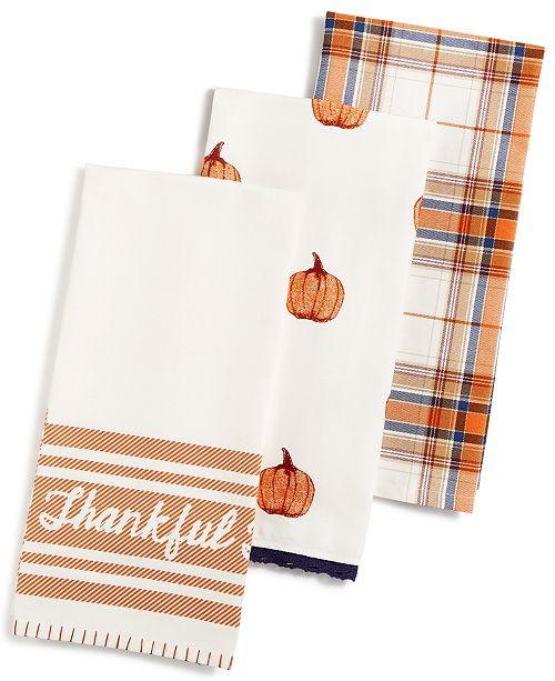 Martha Stewart Collection 3 Pc Harvest Kitchen Towel Set
