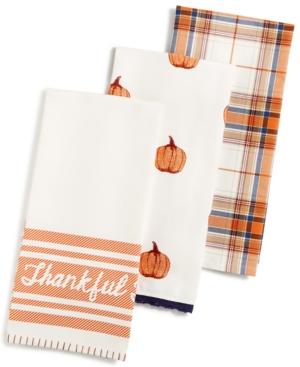 Martha Stewart Collection 3Pc Harvest Kitchen Towel Set Created for Macys