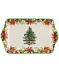 Spode Christmas Tree Annual 12'' Dessert Tray