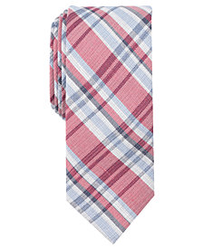 Tallia Men's Irving Plaid Slim Tie