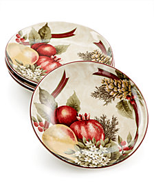 222 Fifth Yuletide Celebration Set of 4 Appetizer Plates