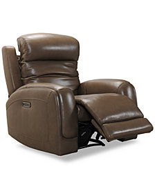 Winterton Leather Power Recliner With Power Headrest, Lumbar And USB Power Outlet