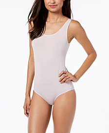 I.N.C. Smooth Shimmer Tank Bodysuit, Created for Macy's