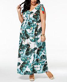 John Paul Richard Plus Size Tassel-Tie Maxi Dress