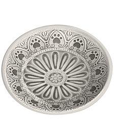 TarHong Medallion Paw Print Large Pet Bowl