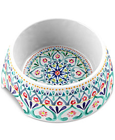 TarHong Boho Medallion Multicolored Medium Pet Bowl