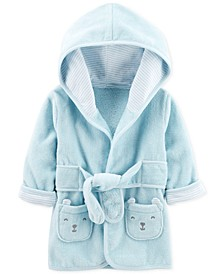 Baby Boys Hooded Cotton Robe 0-9M