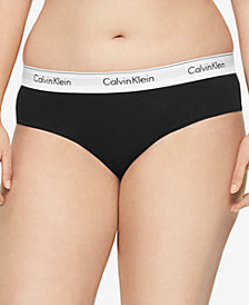 Calvin Klein Plus Size Modern Cotton Logo Hipster QF5118, First at Macy's