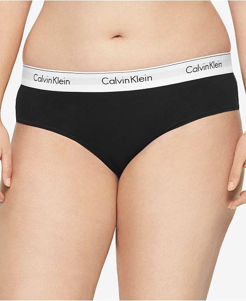3f172d5606f0b5 Calvin Klein Plus Size Modern Cotton Logo Hipster QF5118 & Reviews ...