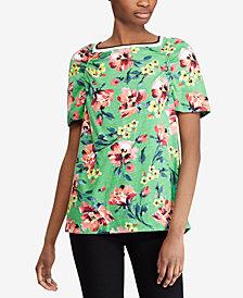 Lauren Ralph Lauren Floral-Print Top