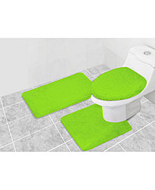 Popular Bath Prestige 3-Pc. Bath Rug & Lid Cover Set