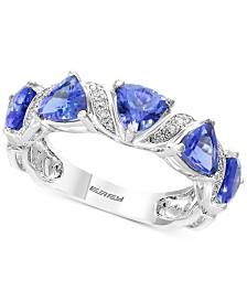 Tanzanite Royalé by EFFY® Tanzanite (1-9/10 ct. t.w.) & Diamond Accent Ring in 14k White Gold
