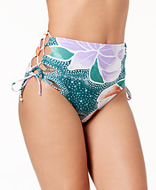 Hula Honey Juniors' High-Waist Bikini Bottoms, Created for Macy's