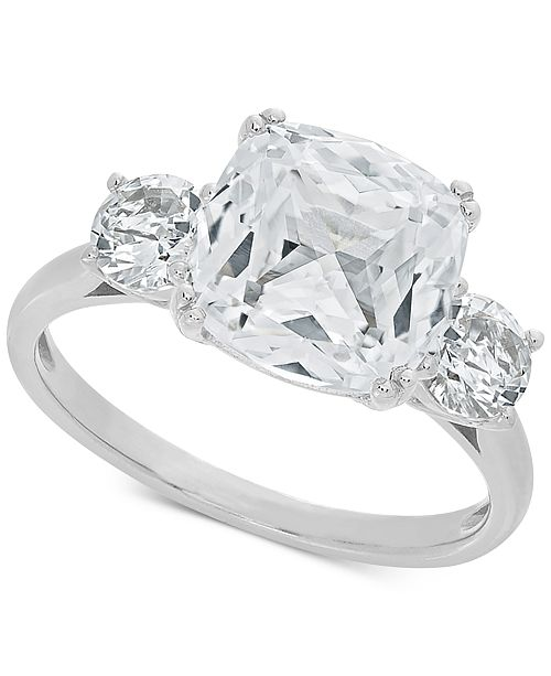 2229b3d377ed Macy s Arabella Swarovski Zirconia Statement Ring in Sterling Silver ...