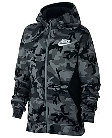 Nike Big Boys Printed Fleece Zip-Up Hoodie