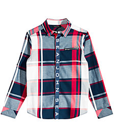 Sean John Big Boys Plaid Shirt