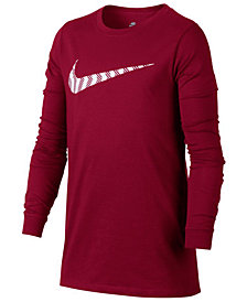 Nike Logo-Print Cotton Shirt, Big Boys