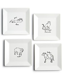 The Cellar Animal Appetizer Plates, Set of 4, Created for Macy's